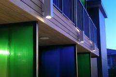 All Stars Inn Exterior at Night