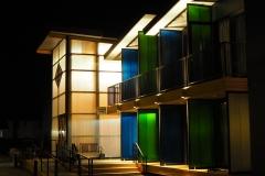 All Stars Inn Entry at Night